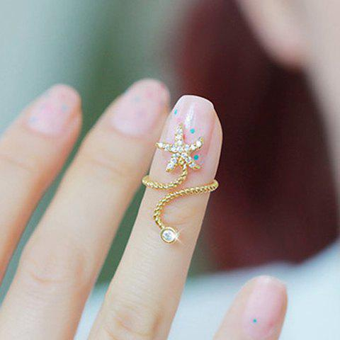 Shops Diamante Starfish Embellished Spiral Alloy Ring