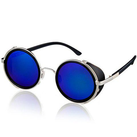 Sale Cool Round Design Sunglasses with PC Lens and Comfortable High-nickel Alloy Frame BLUE