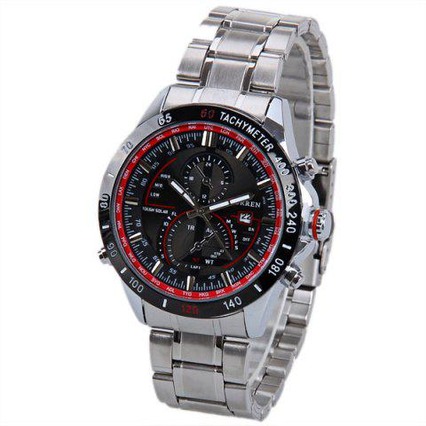 Best Curren 8149 Quartz Watch with Calendar Analog Indicate Steel Watchband for Men