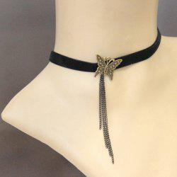 Gothic Butterfly Link Tassel Necklace For Women