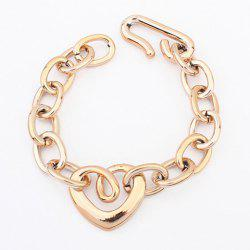 Gold Plated Openwork Heart Shape Bracelet - AS THE PICTURE