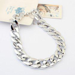 Chunky Thick Chain Adjustable Necklace -