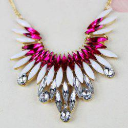Characteristic Rhinestoned Alloy Necklace For Women -