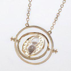Time Turner and Hourglass Pendant Necklace - AS THE PICTURE