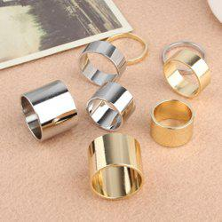 4PCS of Alloy Knuckle Index Finger Rings - COLOR ASSORTED
