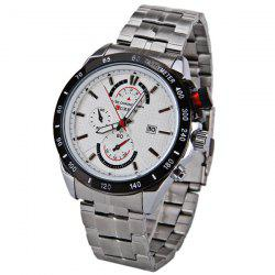 Curren Quartz Watch with Strips Indicate Steel Watchband for Men