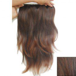 Casual Style Long Slightly Curled Clip-In High Temperature Fiber Women's Hair Extension - LIGHT BROWN