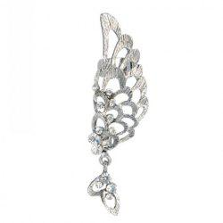 Alloy Rhinestone Angel Wing Earring - SILVER