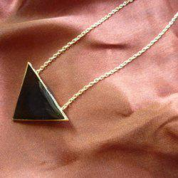 Adjustable Faux Gem Triangle Pendant Necklace -