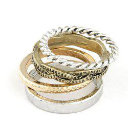 A Suit of Retro Twisted Round Rings - AS THE PICTURE