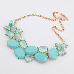 Geometric Fake Gem Statement Necklace
