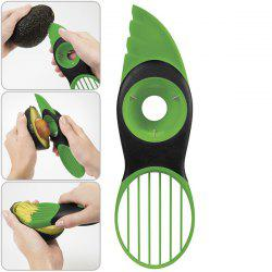 Practical and Multifunctional 3-in-1 Plastic Avocado Pitter Slicer -