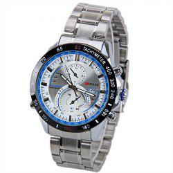 Curren 8149 Quartz Watch with Calendar Analog Indicate Steel Watchband for Men