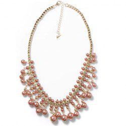 Exquisite Colored Beaded Fake Collar Necklace For Women -