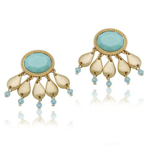 Affordable Pair of Chic Bohemian Colored Beaded Faux Gemstone Earrings For Women
