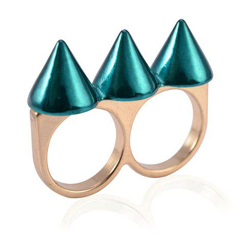 Store Punk Rivet Decorated Ring For Women