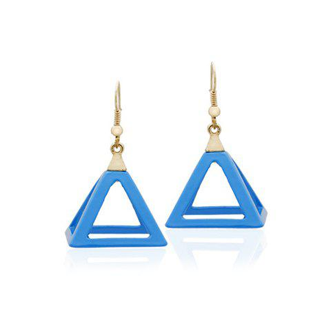 Online Pair of Simple Fashion Colored Hollow Pendant Earrings For Women
