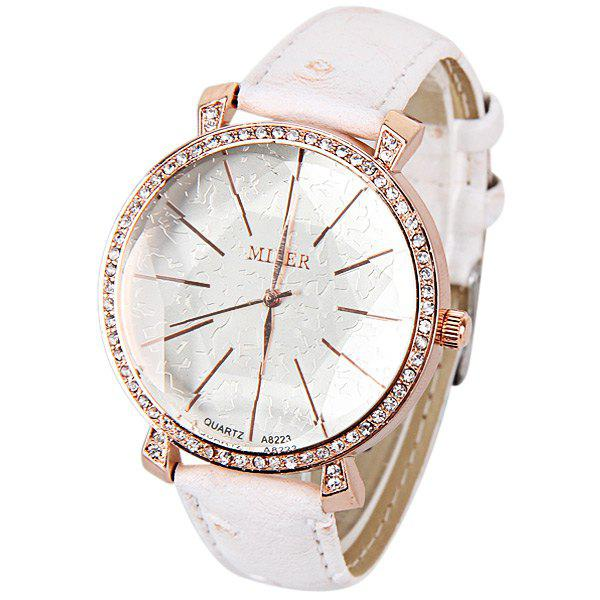 Shops Japan Movt Quartz Watch with Five-Pointed Star Thin Strips Indicate Leather Watchband for Women