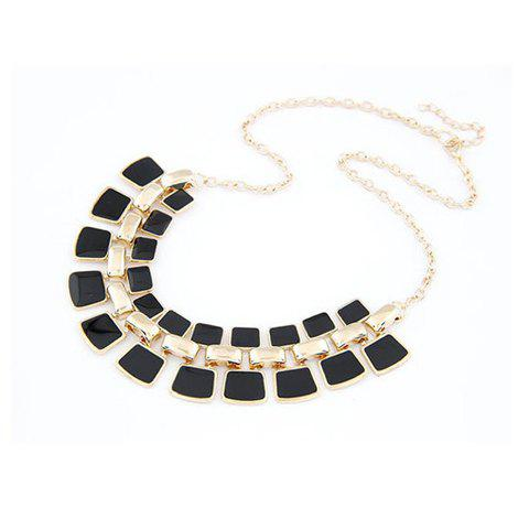 Affordable Chic Small Square Pendant Alloy Necklace For Women