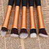 5PCS Professional Soft Cosmetic Face Brush Finishing Powder Brush Cylinder Brush Sets - CHAMPAGNE