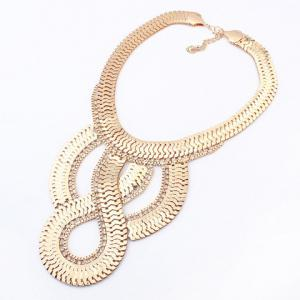 Simple Geometric Pendant Golden Alloy Necklace For Women