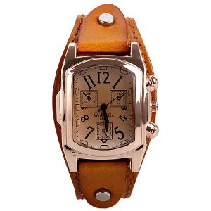 Quartz Watch with Analog Real Leather Watchband for Women -