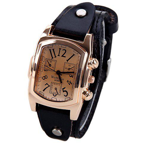 Buy Quartz Watch with Analog Real Leather Watchband for Women