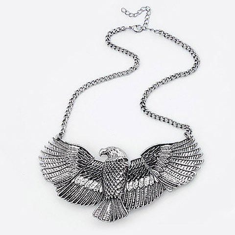 Trendy Vintage Eagle Shape Alloy Pendant Necklace