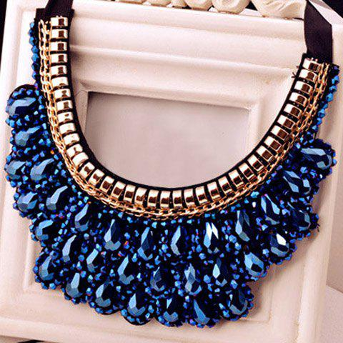 Hot Vintage Handmade Crystal Fake Collar Necklace