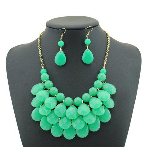 Shop Candy Color Multilayered Beaded Necklace and Earrings For Women