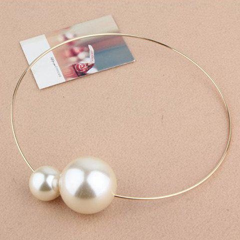 Chic Fashion Big Faux Pearl Embellished Alloy Necklace For Women