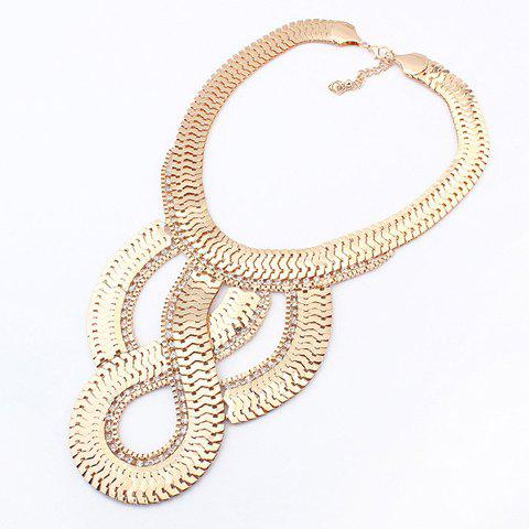 Store Simple Geometric Pendant Golden Alloy Necklace For Women GOLD