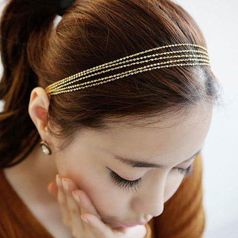 Cheap Chic Golden Multilayered Alloy Hairband For Women