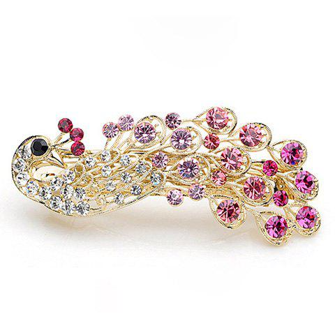Latest Exquisite and Attractive Rhinestone Embellished Peacock Shape Hairpin