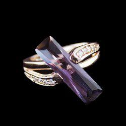 Vintage Diamante Faux Crystal Ring - Comme Photo
