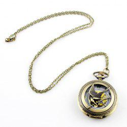Bird and Pocket Watch Shape Pendant Sweater Chain -