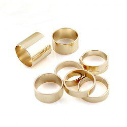 8PCS of Alloy Rings -
