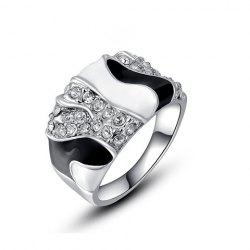 Chic Diamante Color Patchwork Wide Alloy Ring For Women -