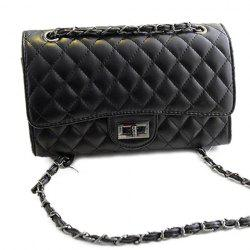 Gorgeous Checked and Chains Design Women's Shoulder Bag -