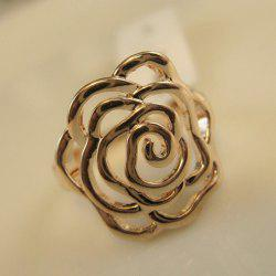 Openwork Flower Shape Ring -