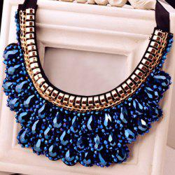 Vintage Handmade Crystal Fake Collar Necklace -