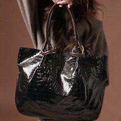 Faux Leather Embossed Shoulder Bag