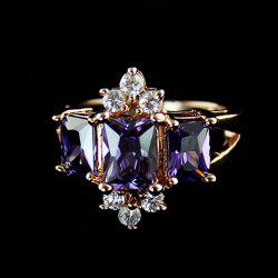 Faux Crystal Embellished Alloy Ring -