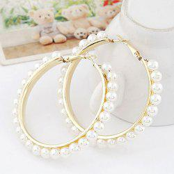 Pair of Statement Beads Decorated Round Shape Earrings -