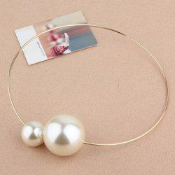 Fashion Big Faux Pearl Embellished Alloy Necklace For Women -