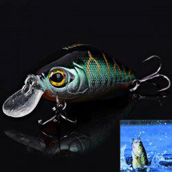 NO.1024 4.5cm 7g Hard Plastic Minnow Floating Fishing Lure Bait with Hook