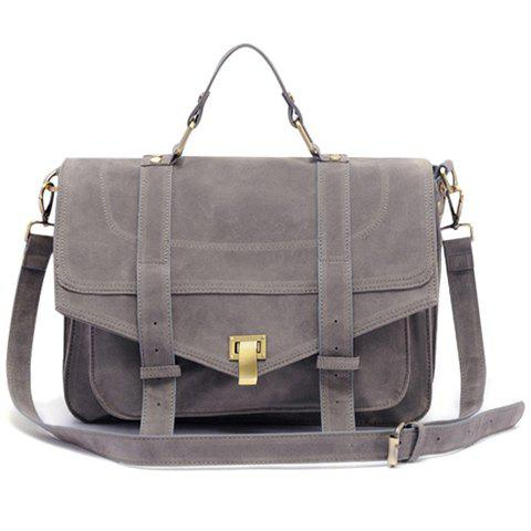 Latest Retro Suede and Solid Color Design Women's Tote Bag