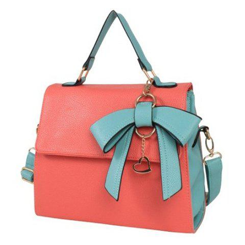 Fashion Sweet Color Matching and Bow Design Women's Tote Bag