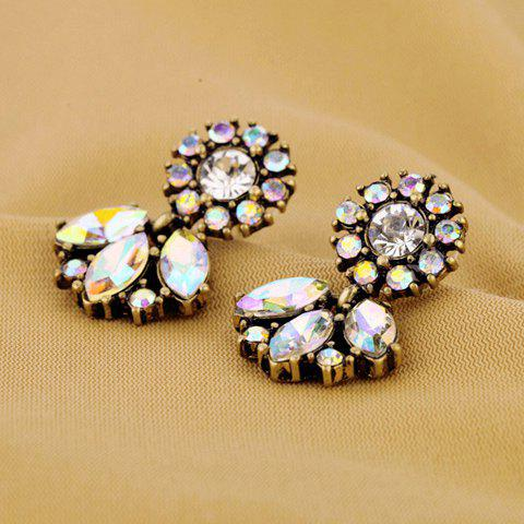 Outfit Pair of Vintage Color Intrigue Rhinestone Embellished Earrings For Women