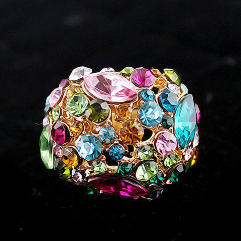 Affordable Statement Colorful Rhinestone Ring AS THE PICTURE ONE SIZE